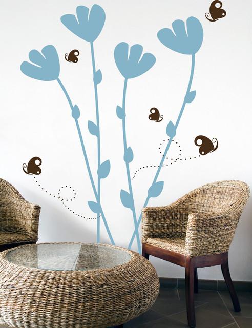 Flowers & Butterflies contemporary-wall-decals