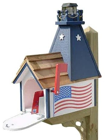 American Lighthouse Mailbox contemporary-mailboxes