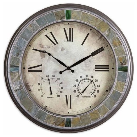 uttermost slate clock traditional clocks by the cottage