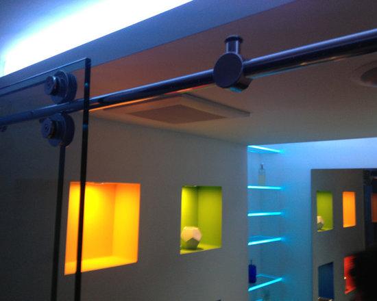 Custom site built lighting system - remote controlled - LED Bathroom & Shower Lighting -