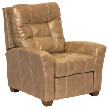 Catnapper Cooper Leather Push Back Recliner - Peanut modern-accent-chairs