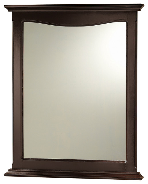 Palermo Espresso Bathroom Mirror Contemporary Bathroom