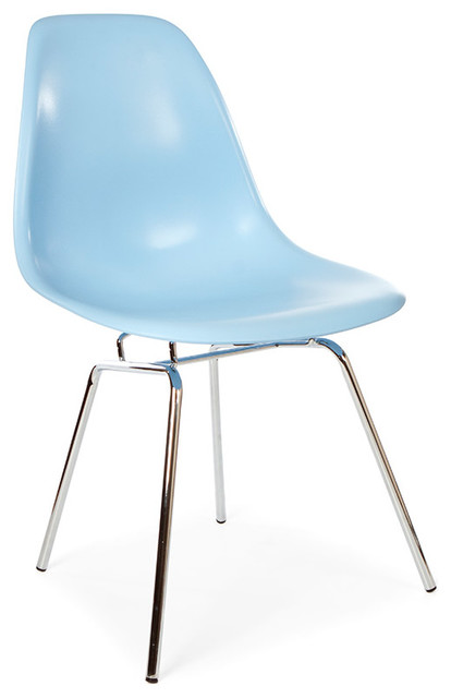 Mid Century Retro DSX Metal Leg Dining Lounge Side Chair, Blue - Midcentury - Dining Chairs - by ...