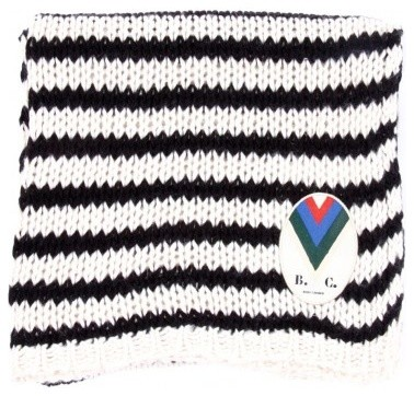 Knitted Stripes Blanket, Black traditional-throws