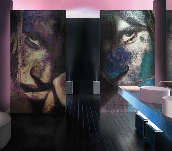 Moasico + contemporary-tile