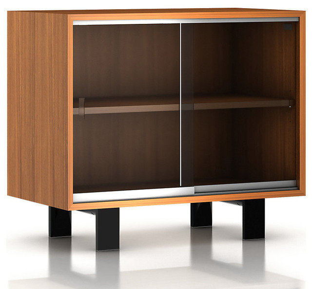 Nelson Glass Door Cabinet - Modern - Accent Chests And Cabinets - by SmartFurniture