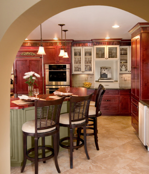 Canyon Creek Cornerstone - Kingston & Canterbury door styles in Alder & Maple eclectic-kitchen