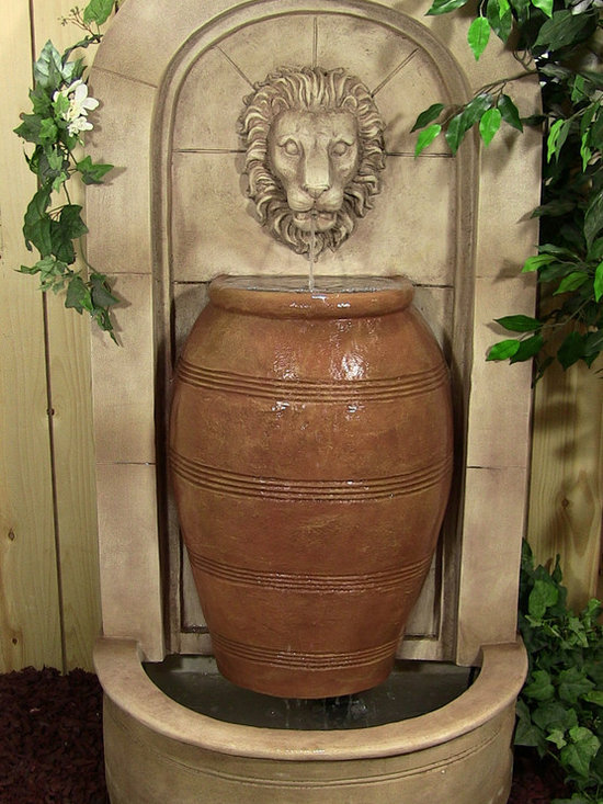 Outdoor Classics - Arch Urn Wall Fountain - This is a lightweight version of the classic stone fountains found in Greece and Italy.  Very elegant and great for creating a centerpiece along a backyard fence or patio.