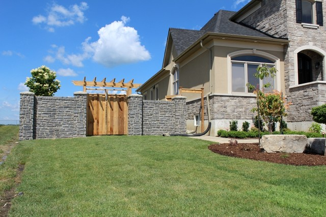 Nobelton Residential Privacy Wall traditional-home-fencing-and-gates