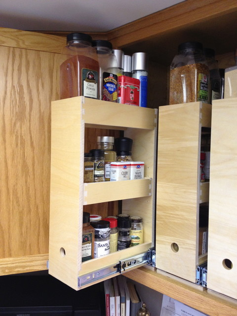 Spice storage solutions seattle by shelfgenie of seattle for Carousel spice racks for kitchen cabinets