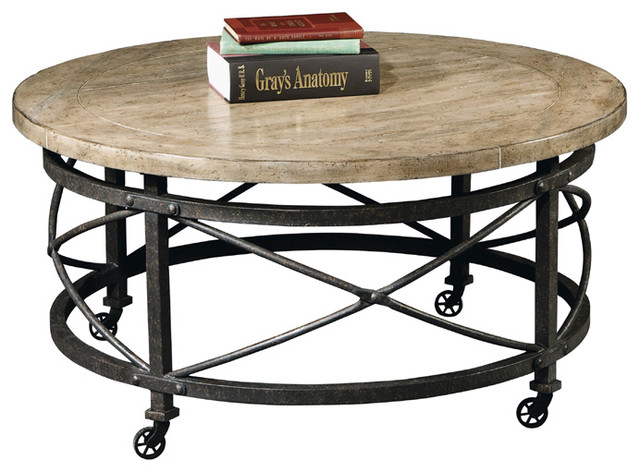 Urban Loft Round Mobile Coffee Table Modern Coffee Tables By Man Cave Kingdom