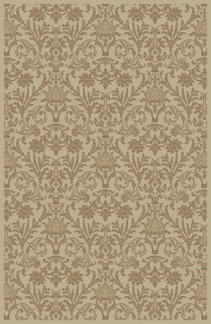 "Concord Global Jewel Damask Ivory 9'3"" x 12'6"" Rug (4942) traditional-rugs"
