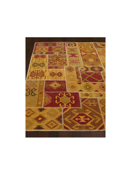 Exquisite Rugs - Exquisite Rugs Tonal Patchwork Rug - Patchwork rug warms the room with a variety of tribal-inspired motifs rendered in earth-tone hues. Made of wool. Sizes are approximate. Imported. See our Rug Guide for tips on how to measure for a rug, choosing weaves and patterns, and more. ....