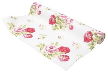 Cath Kidston - Antique Rose Wallpaper traditional-wallpaper