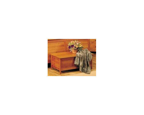 PRAIRIE BLANKET CHEST - This bedroom collection rivals the simple, timeless, elegant qualities of authentic shaker furnishings. Gentle tapered legs and feet, smooth surfaces, and solid hardwood construction make a great fit for any home.