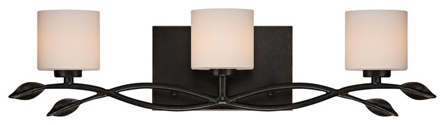 "Contemporary Quoizel Erin 24"" Wide 3-Light Imperial Bronze Vanity Light contemporary-bathroom-vanity-lighting"