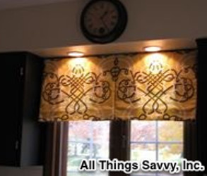 Custom window treatments by All Things Savvy, Inc. traditional-kitchen