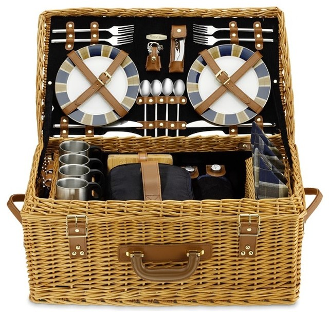 Wicker Picnic Basket - Traditional - Picnic Baskets - by Williams-Sonoma