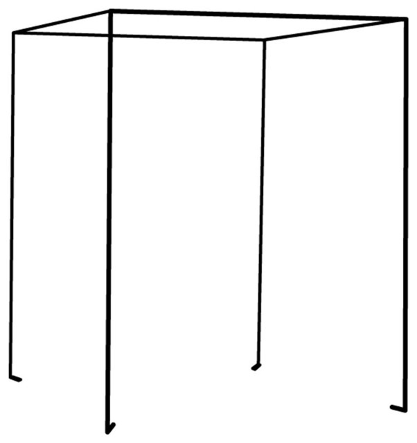 Iron Four Poster Freestanding Bed Canopy, Black, King ...