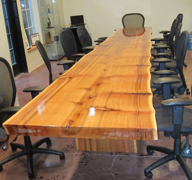 Live Edge 16' Cedar Conference Table - Contemporary - Dining Tables - portland - by Jewell Hardwoods