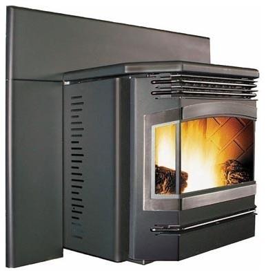 Enviro 25'' x 23'' Meridian Series Insert Pellet Fireplace EFMFPI-A modern-indoor-fireplaces