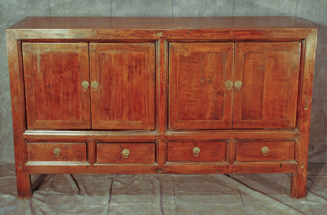 Chinese Antique Buffet Cabinet - Asian - Buffets And Sideboards - new orleans - by Silk Road ...
