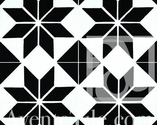 "Geometric Geo 17 Cement Tile 8"" x 8"" -"