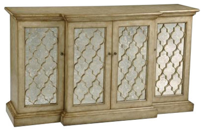 QUATREFOIL MOROCCAN MIRRORED CREDENZA CABINET traditional-buffets-and-sideboards