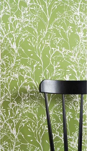 Ferm Living - Wildflower Wallpaper Green modern-wallpaper