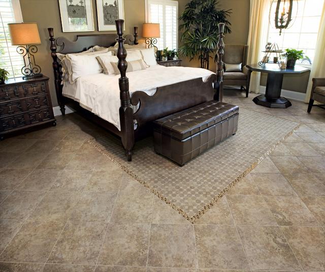 brown tiles bedroom