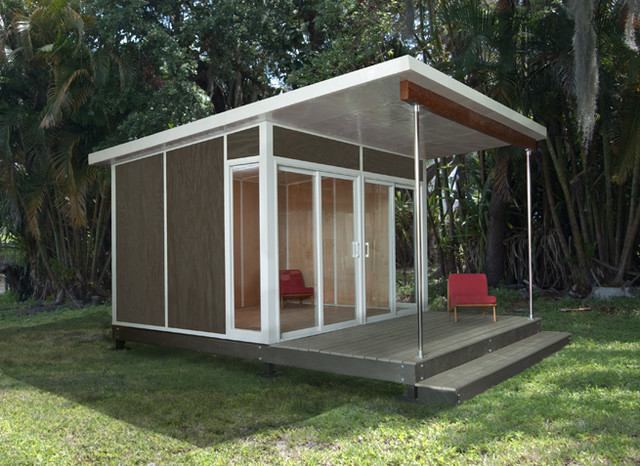 Zip cabin modern prefab studios by cabin fever for Prefab studio cottage