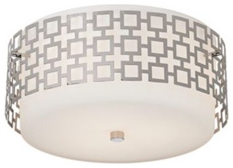 Jonathan Adler Parker Nickel Ceiling Light contemporary ceiling lighting
