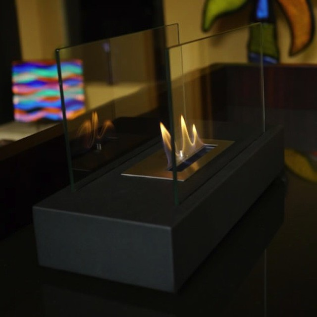 """Nu-Flame Incendio 14"""" x 9"""" Tabletop Bio-Ethanol Fireplace NF-T1INO modern-bath-and-spa-accessories"""