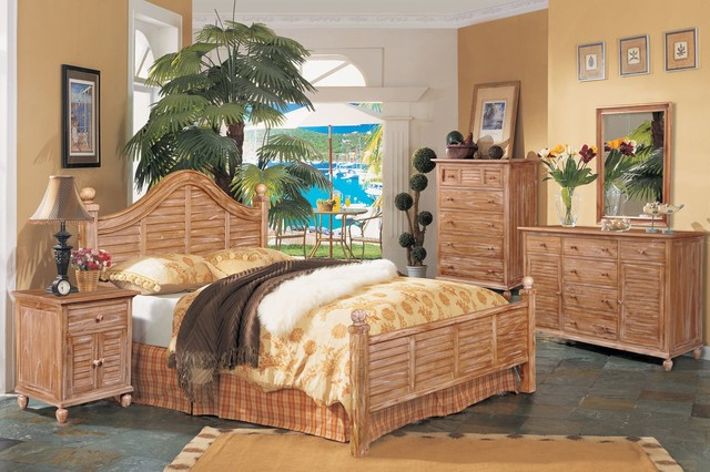 collection cinnamon bark finish beach style bedroom furniture sets
