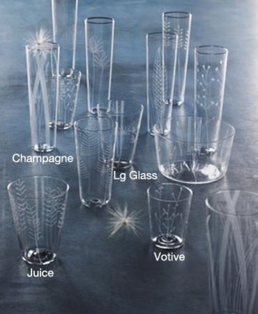 Botanical Inspired Glassware (Set of 6) modern-everyday-glasses