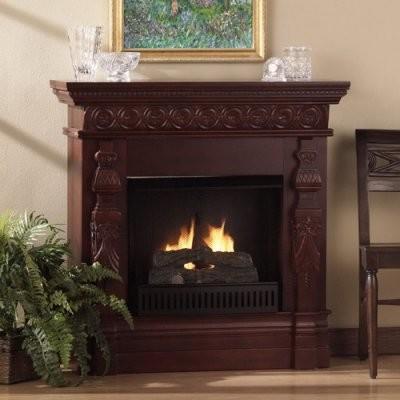Southern Enterprises Seville Carved Gel Fuel Fireplace Modern Fireplaces By Hayneedle