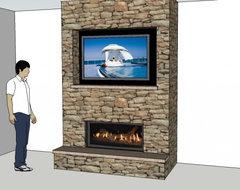 ullswater TV Over Fireplace Wiring
