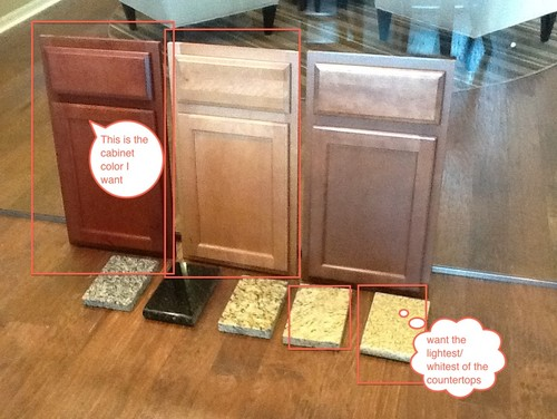 Kitchen cabinet and countertop color for Kitchen cabinets and countertop color combinations