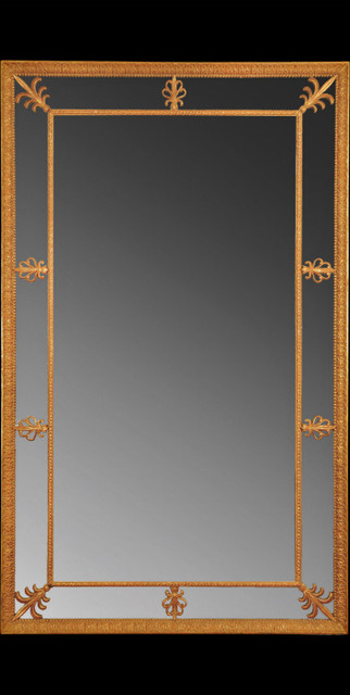 Large Adam Border Glass Pier Mirror Traditional Wall