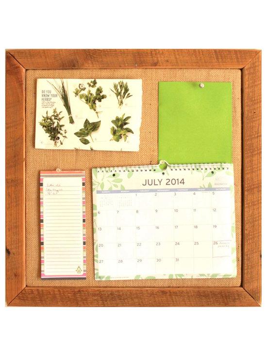 Square Bulletin Board - Wall Organization System - Square Bulletin Board - $45