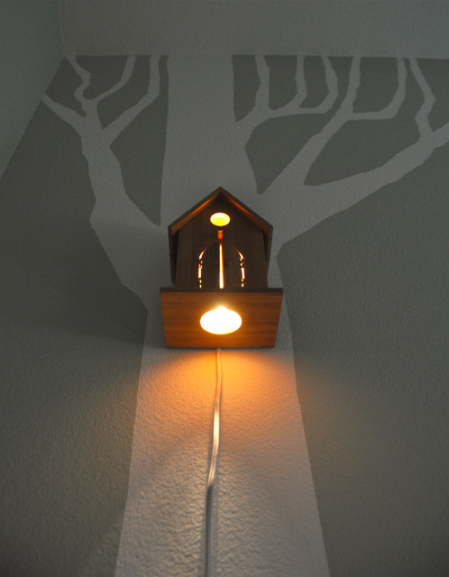 Wall Lamps For Baby Room : Nursery Wall Hanging Birdhouse Lamp - Modern - Baby And Kids - orange county - by Modern Treetop ...