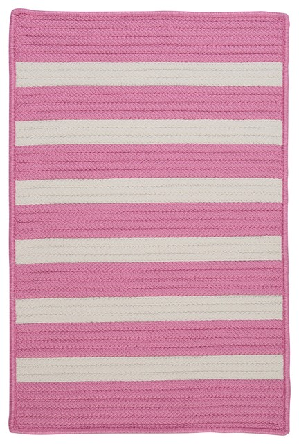 Stripe It, Bold Pink Rug, 5'X8' contemporary-rugs