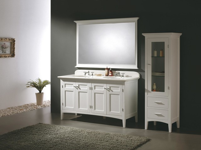 60 Trieste Double Sink Vanity Colonial White 147 527 5131 Transit