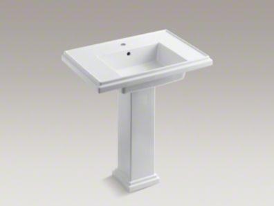 Tresham 30-Inch Pedestal Sink with Single Faucet Hole - Bathroom Sinks ...