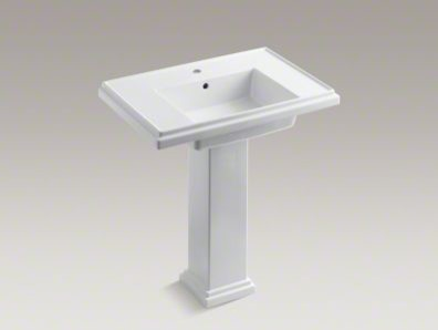 Tresham 30-Inch Pedestal Sink with Single Faucet Hole - Bathroom Sinks ...