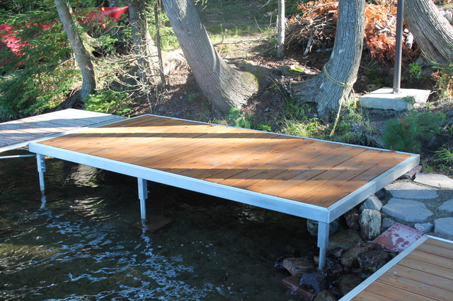 trout lake north bay dock design and installation beach style