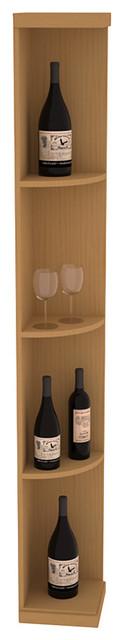 Quarter Round Wine Display in Pine, Oak contemporary-wine-racks
