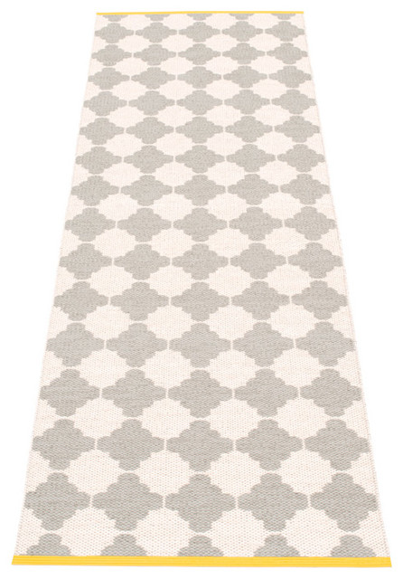 Pappelina Marre Plastic Runner, Warm Grey contemporary-rugs