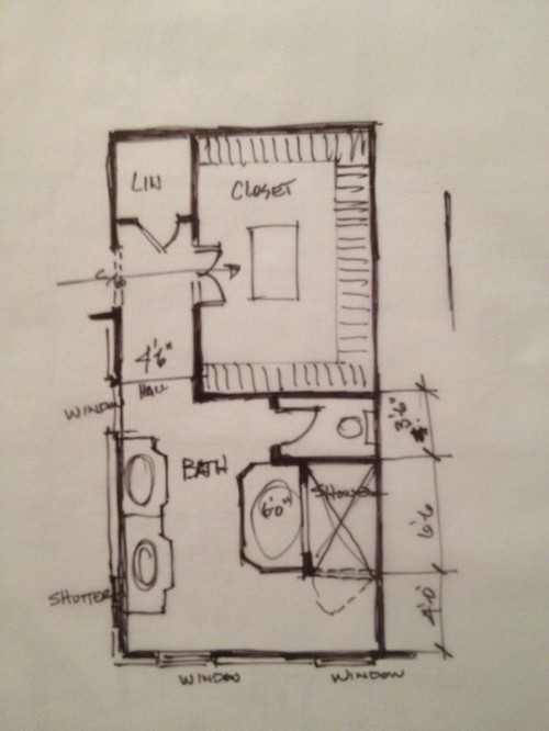 Help With Master Bathroom Closet Layout