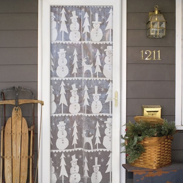Heritage Lace Winter Whimsy Scenic Curtain Panel Modern